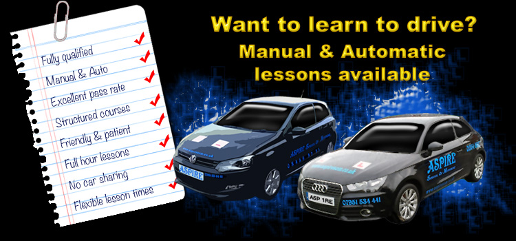 get driving lessons March with Aspire School of Motoring